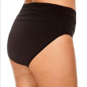 NWT Black shirred magicsuit swimsuit bottoms